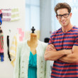 Male Fashion Designer In Studio - Stock Photo