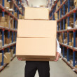 Man Carrying Boxes In Warehouse — Stock Photo #25049097