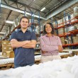Portrait Of Factory Worker And Manager On Production Line - Stockfoto