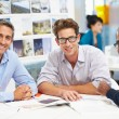 Group Of Men Meeting In Creative Office — Stock Photo