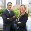 Portrait Of Two Business Colleagues Outside Office — Stock Photo