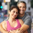 Portrait Of Male And Female Runners On Urban Street — Stock Photo