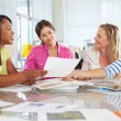 Royalty-Free Stock Photo: Group Of Women Meeting In Creative Office