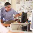 Workers At Desks In Busy Creative Office — Stock Photo #25049809