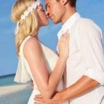 Couple At Beautiful Beach Wedding — Stock Photo #25049891