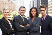 Portrait Of Four Business Colleagues Outside Office — Stock Photo