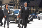 Group Of Businesspeople Crossing Street — Stok fotoğraf
