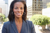 Portrait Of Businesswoman Outside Office — Stock Photo