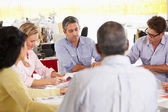 Setkání týmu v kreativní úřadu — Stock fotografie
