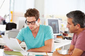Two Men Meeting In Creative Office — Stock Photo