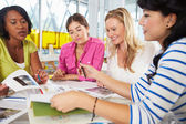 Group Of Women Meeting In Creative Office — Stok fotoğraf