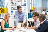 Reunião no escritório de arquitetos — Foto Stock