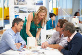 Meeting In Architects Office — Stock Photo