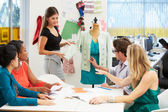 Meeting In Fashion Design Studio — Zdjęcie stockowe