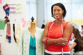 Designer de moda em estúdio — Foto Stock