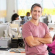 Portrait Of Man Standing In Busy Creative Office — Stock Photo #25050051
