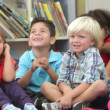 Children at school. — Stockvideo
