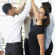 Business Team Giving One Another High Five — Foto de Stock