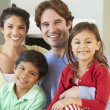 Family Relaxing On Sofa Together — Stock Photo