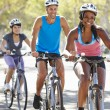 Group Of Cyclists On SuburbStreet — Stock Photo #27553805