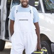 Portrait Of Repairman With Van — Stock Photo
