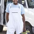 Portrait Of Repairman With Van — Stock Photo