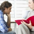 Stock Photo: MHaving Counselling Session