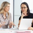 Two Businesswomen Meeting In Office — Stock Photo #27554211