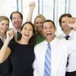 Portrait Of Business Team In Office Celebrating — Stock Photo