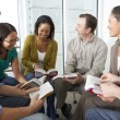 Stock Photo: Bible Group Reading Together