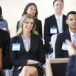 Delegates Listening To Speaker At Conference — Stock Photo
