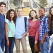 Group Of Teenage Pupils Outside Classroom — Stock Photo