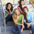 Group Of Female Teenage Pupils Outside Classroom — Stock Photo