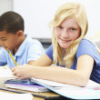 Pupils Studying At Desks In Classroom — Stock Photo