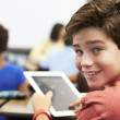Pupil In Class Using Digital Tablet — Stock Photo