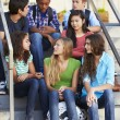 Group Of Teenage Pupils Outside Classroom — Stock Photo #27555347