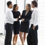 Business Team Having Informal Meeting In Office — Stock Photo