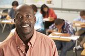 Portrait Of Teacher In Classroom — Stock Photo