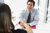 Businessman Interviewing Female Candidate For Job — Stock Photo
