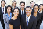 Portrait Of Business Team Outside Office — Stock Photo