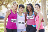 Group Of Female Runners Before Race — Stock Photo