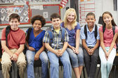 Group of Elementary Pupils In Classroom — Stock Photo