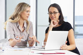 Two Businesswomen Meeting In Office — Stock Photo