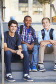 Group Of Male Teenage Pupils Outside Classroom — Stock Photo