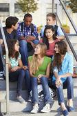 Group Of Teenage Pupils Outside Classroom — Stock Photo