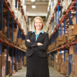 Portrait Of Female Manager In Warehouse — Stock Photo