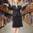Stock Photo: Portrait Of Female Manager In Warehouse
