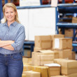 Stock Photo: Portrait Of Worker In Distribution Warehouse