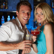 Couple Enjoying Cocktail In Bar — Stockfoto