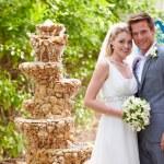 Bride And Groom At Wedding Ceremony — Stock Photo